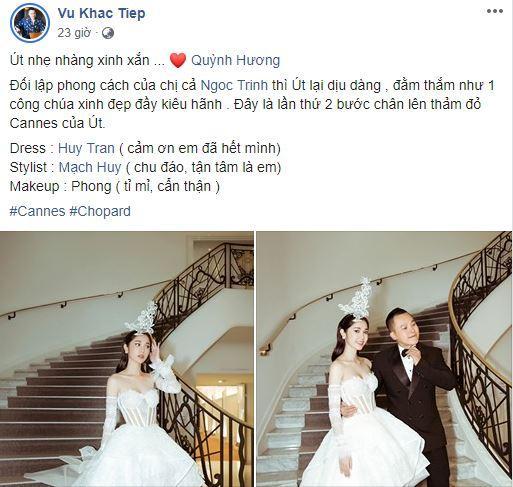 Ngọc Trinh,sao đi thảm đỏ LHP Cannes 2019,Nữ hoàng nội y,Vũ Khắc Tiệp,Quỳnh Hương