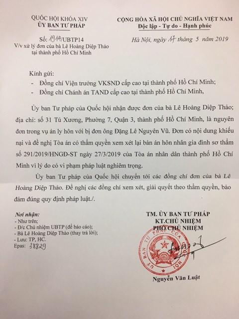 Lê Hoàng Diệp Thảo, ông Đặng Lê Nguyên Vũ, Vụ ly hôn của vợ chồng ông chủ cà phê Trung Nguyên