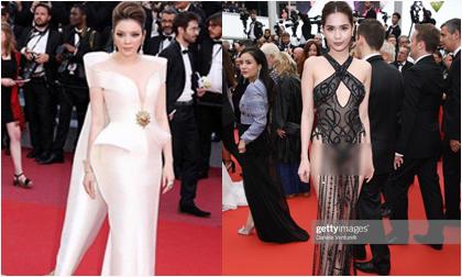 Ngọc Trinh,LHP Cannes,Xuân Lan,Lý Nhã Kỳ,Ngọc Trinh gây sốc khi mặc như không ở Cannes