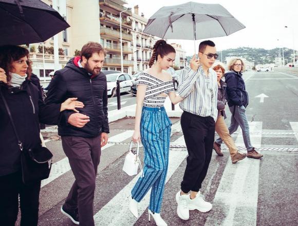 Vũ Khắc Tiệp, Ngọc Trinh, Ngọc Trinh tại Cannes, Lý Nhã Kỳ
