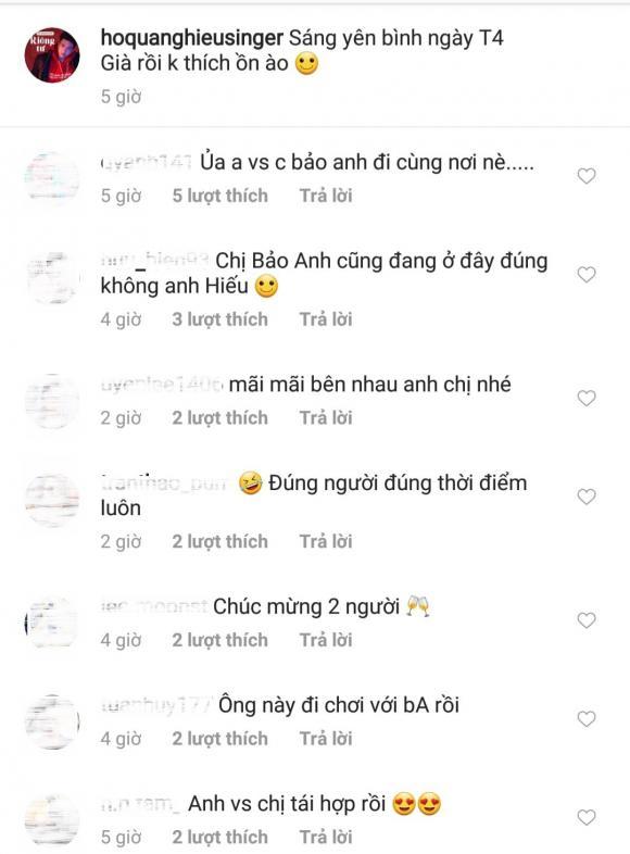 Ca sĩ Bảo Anh,Ca sĩ hồ quang hiếu, sao Việt
