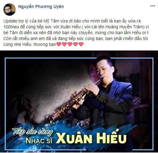 nhạc sĩ Xuân Hiếu, ung thư tiết niệu, Mỹ Tâm, Đàm Vĩnh Hưng, Phương Uyên, sao Việt
