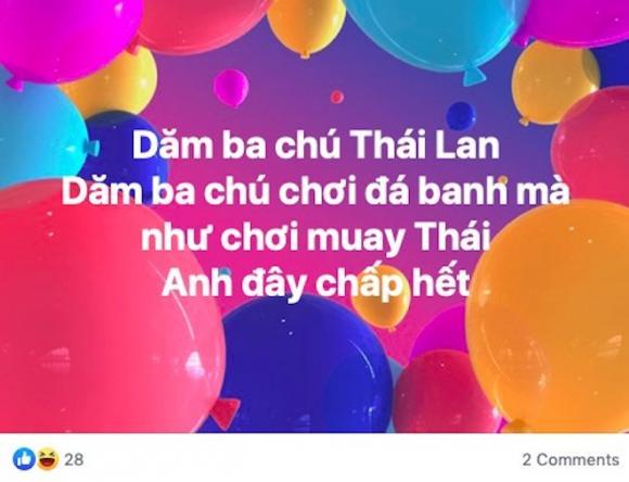 Tuyển việt nam, Thái Lan, Mạng xã hội