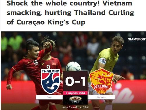 Tuyển việt nam, Thái Lan, King's Cup 2019
