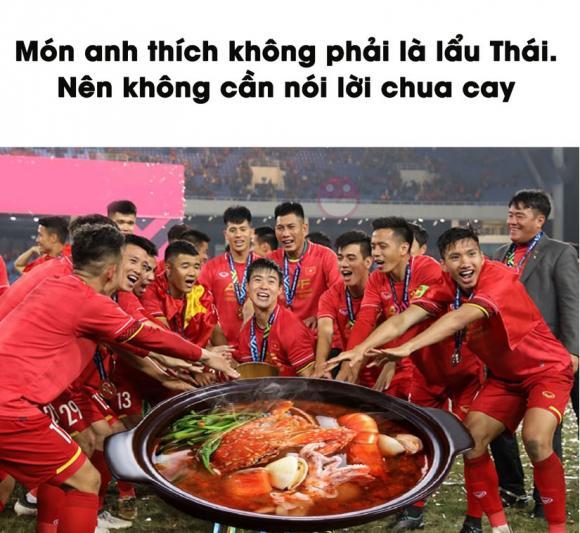 Thái Lan, Việt Nam, ảnh chế, Công Phượng, Anh Đức, nồi lẩu Thái siêu cay