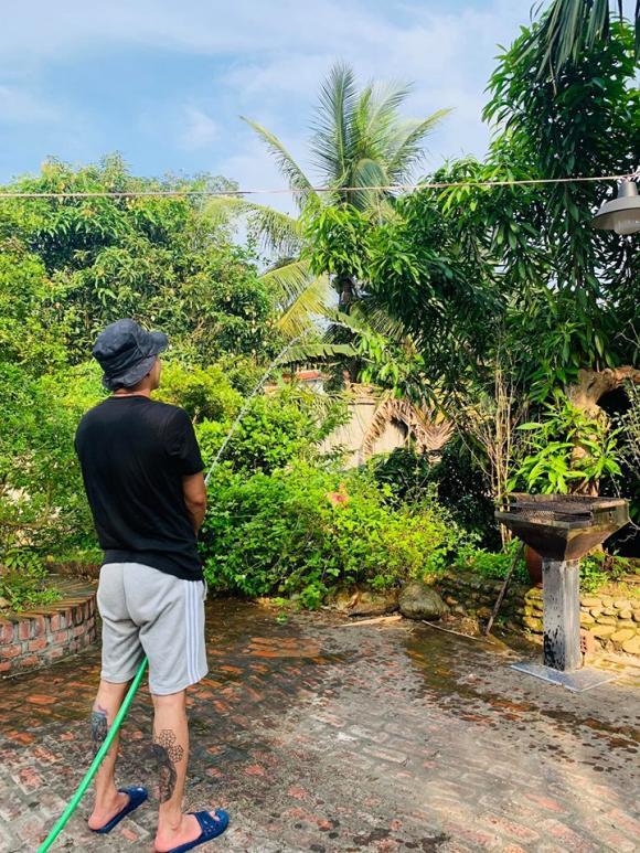 khu vườn nhà Hồng Đăng,diễn viên Hồng Đăng,sao Việt