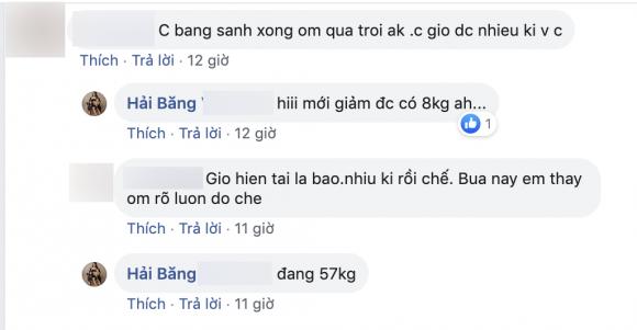 Thành Đạt, diễn viên Hải Băng, Hải Băng, sao Việt, giảm cân sau sinh