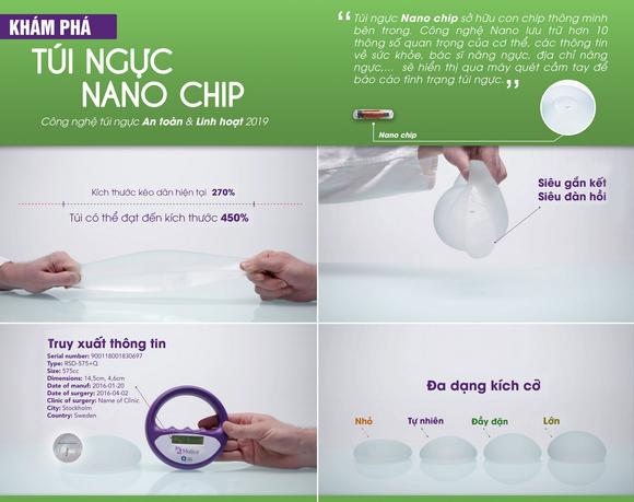Rita Hoàng Anh, Nâng ngực Nano Chip Ergonomic, Thẩm mỹ viện Saigon Venus