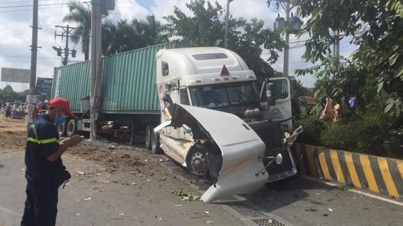 container, tai nạn giao thông, Tây Ninh