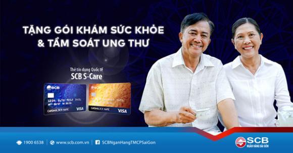 scb scare, scb s-care, thẻ tín dụng, thẻ credit, tầm soát ung thư, gói khám sức khỏe