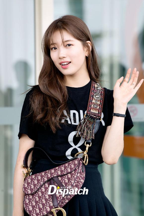 suzy, lee min ho, thời trang sân bay, sao hàn