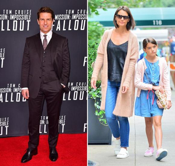 Suri Cruise,Tom Cruise,Katie Holmes,sao Hollywood