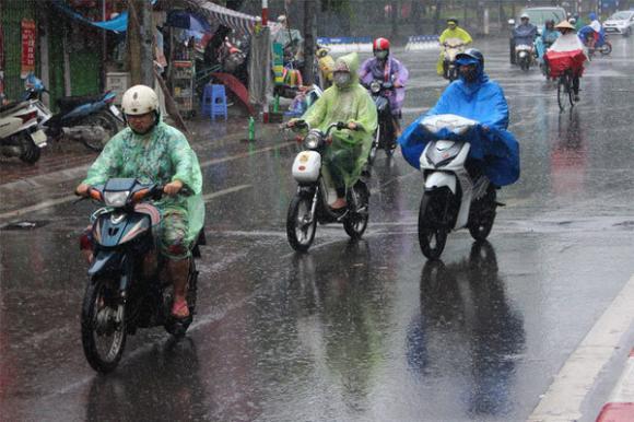 Dự báo thời tiết, Thời tiết hôm nay, mưa dông