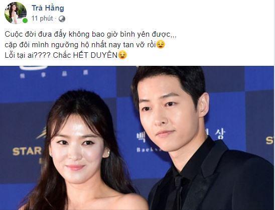 sao việ nói về Song Joong Ki và Song Hye Kyo ly hôn, Song Joong Ki và Song Hye Kyo ly hôn, Song Joong Ki và Song Hye Kyo