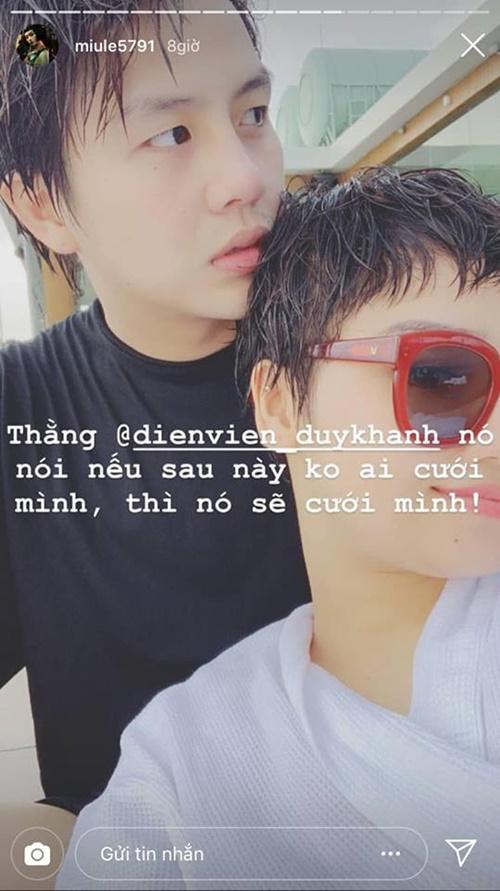 Duy Khánh, Miu Lê, sao Việt
