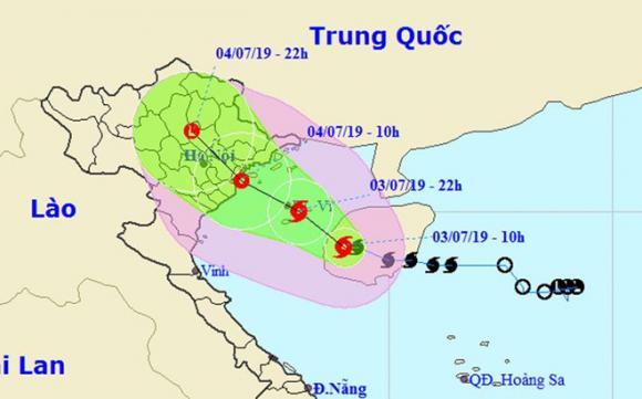bão số 2, Quảng Ninh, Hải Phòng, Hà Nội
