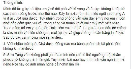Mai Phương Thúy, Sơn Tùng MTP, sao Việt