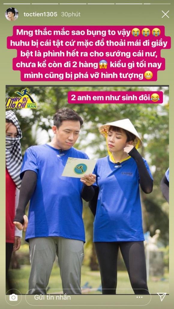 ca sĩ Tóc Tiên, Chạy đi chờ chi, sao Việt, có bầu