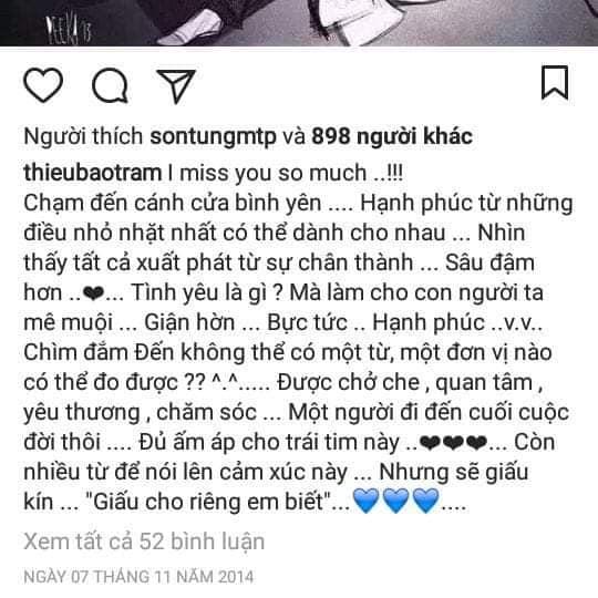 Sơn Tùng MTP,  Thiều Bảo Trâm, sao Việt
