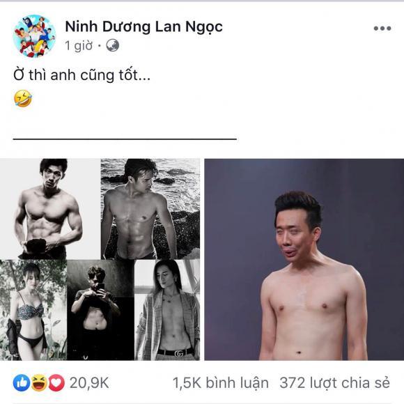 Ninh Dương Lan Ngọc,danh hài Trấn Thành, sao Việt