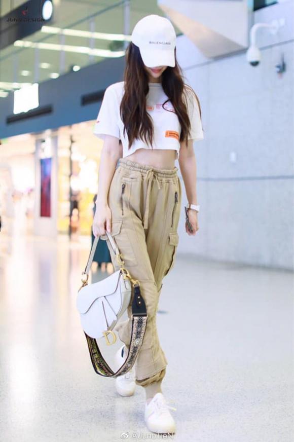 angelababy, thời trang sân bay của angelababy, sao hàn