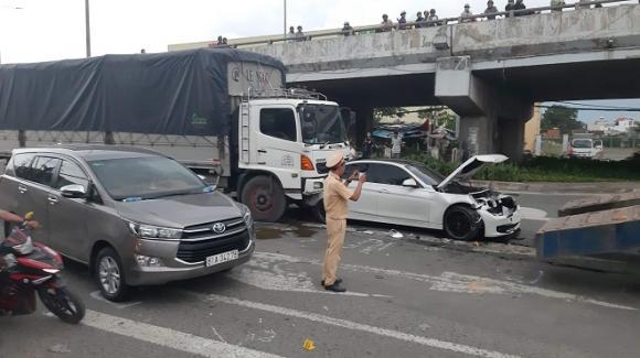 tai nạn giao thông, tai nạn liên hoàn, tai nạn tp hcm