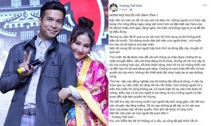 diễn viên diễm my 9x, Ca sĩ trương thế vinh, sao Việt