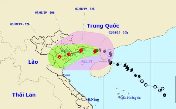 bão số 3, thời tiết, Hà Nội, mưa lớn