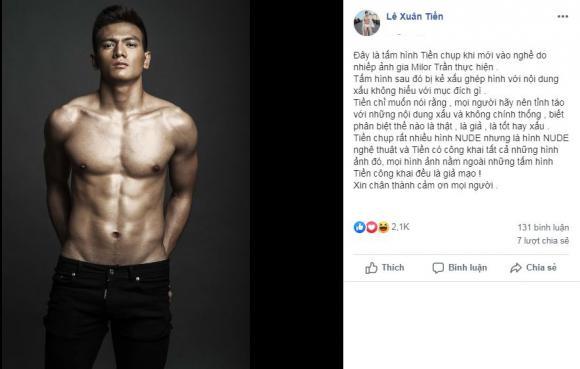 Lê Xuân Tiền, chàng thơ của NTK Đỗ Mạnh Cường, sao Việt