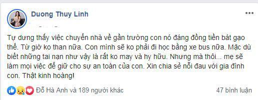 Sao Việt, học sinh lớp 1 tử vong, Hồng Quế, Dương Thùy Linh, Lưu Thiên Hương, Dương Yến Ngọc
