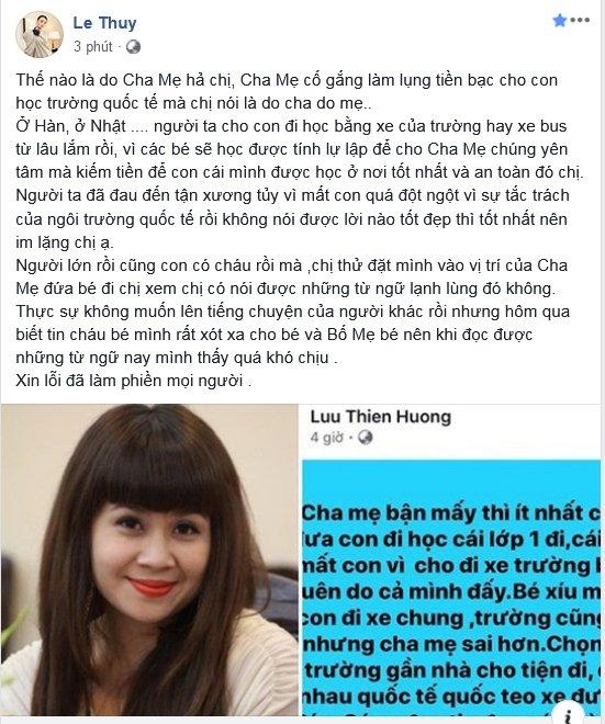 người mẫu lê Thuý, nhạc sĩ Lưu Thiên Hương, sao Việt