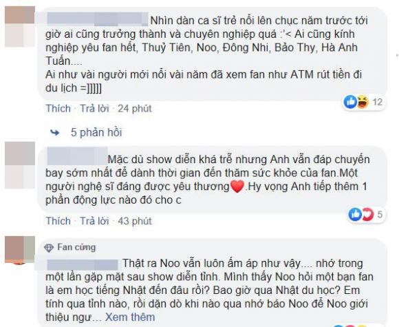Noo Phước Thịnh, Noo Phước Thịnh và fan, cách hành xử Noo Phước Thịnh, scandal Noo Phước Thịnh, Noo Phước Thịnh thăm fan bị ung thư