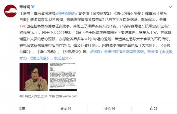 diễn viên TVB,Lương Thuần Yến,sao Hoa ngữ