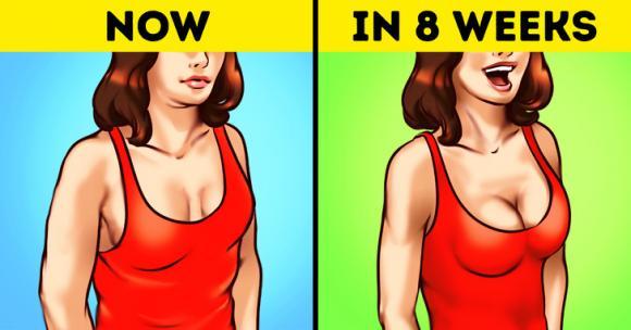 làm đẹp ngực, cách làm bầu ngực săn chắc trở lại, làm bầu ngực săn chắc trở lại sau giảm cân