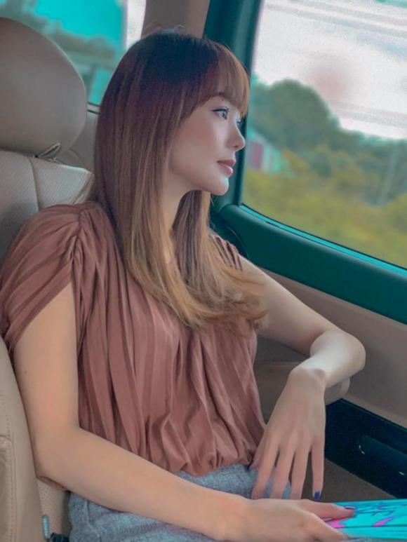 Minh Hằng,Minh Hằng khoe tóc mới,sao Việt