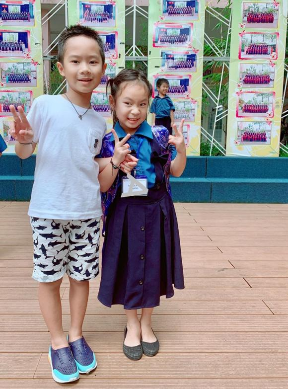 Sao Việt, Sao Việt đưa con đi khai giảng, Sao Việt cho con học trường nào, con sao việt