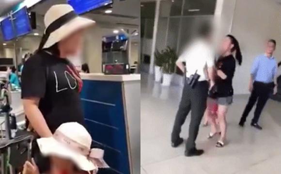 nữ hành khách, nhân viên sân bay, Vietnam Airlines