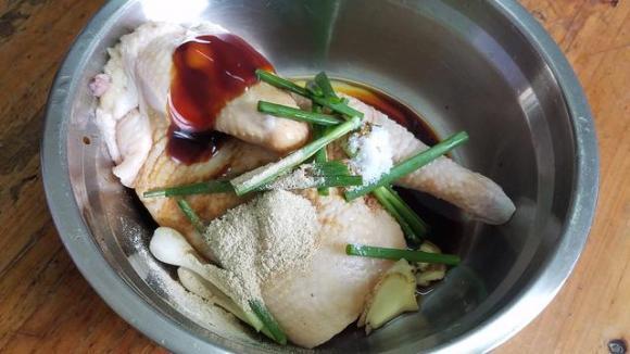 món gà, gà hấp, dạy nấu ăn