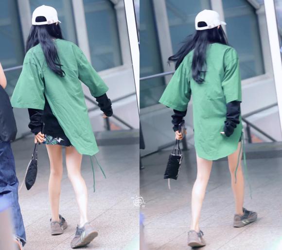 Cách sử dụng tông xanh lá, angelababy, dương mịch, thời trang sân bay
