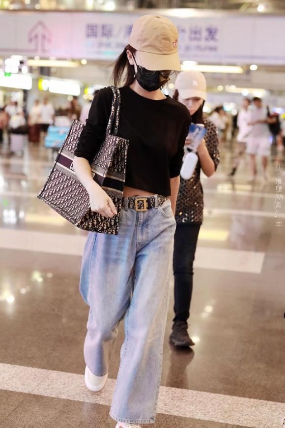 ngô cẩn ngôn, tần lam, thời trang sân bay, sao hoa ngữ