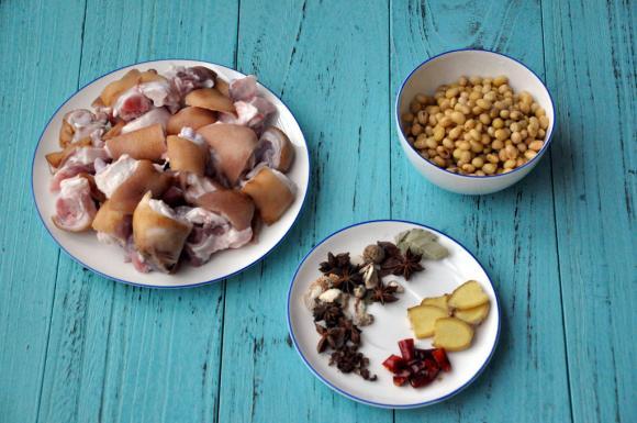 móng giò, sú, đậu nành, dạy nấu ăn