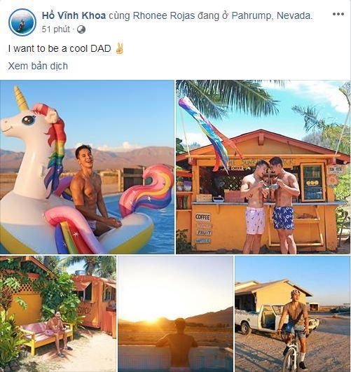 Hồ Vĩnh Khoa, bạn đời đồng giới của Hồ Vĩnh Khoa, Rhonee Rojas