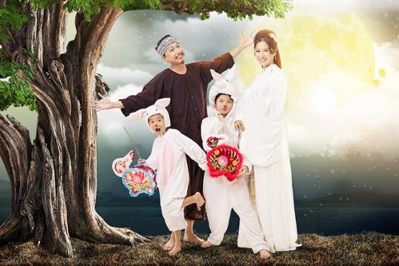 Lâm Vĩ Dạ, gia đình Lâm Vĩ Dạ, Lâm Vĩ Dạ đón tết trung thu, tết trung thu, ảnh sao việt