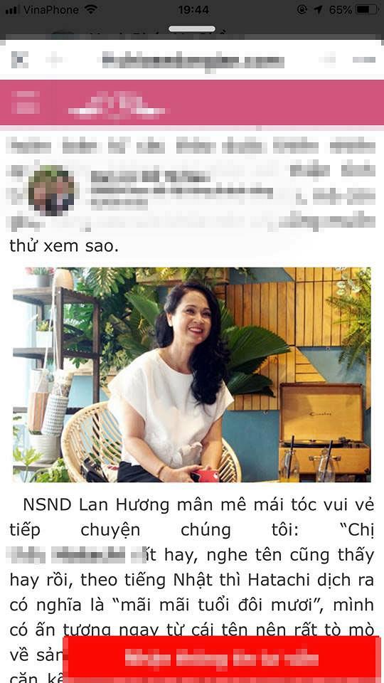 Lan Hương, sao Việt