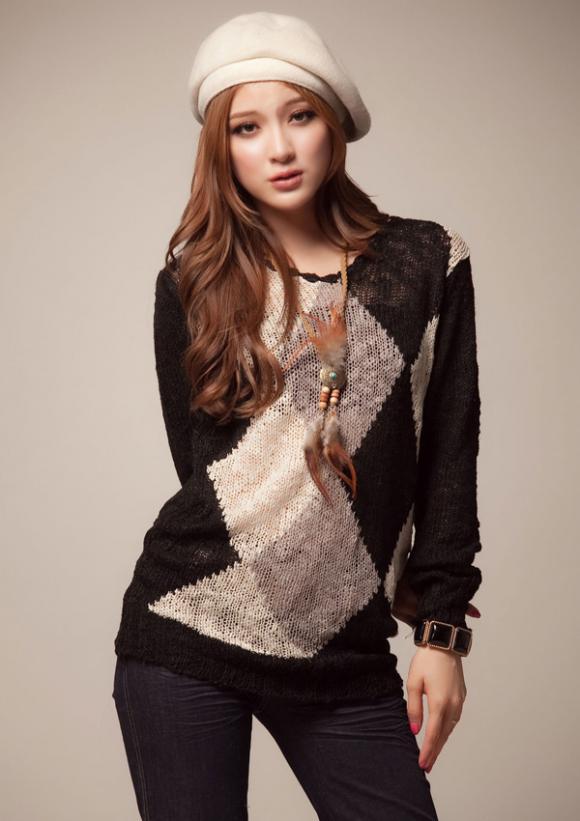 Áo len dài đẹp xinh cho teengirl cá tính