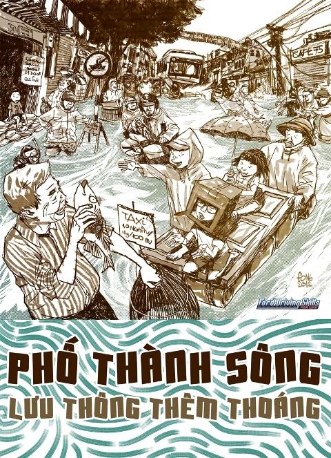 Tác giả 'Sát thủ đầu mưng mủ' vẽ ...văn hóa giao thông của người Việt