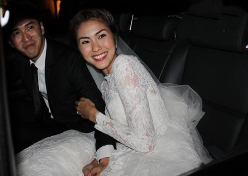 Tăng Thanh Hà mặc váy cưới 67 triệu? - 6
