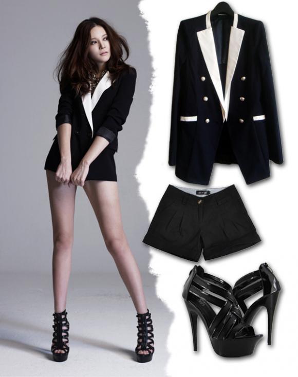 Mix đồ với áo vest đẹp gợi cảm như sao Hàn