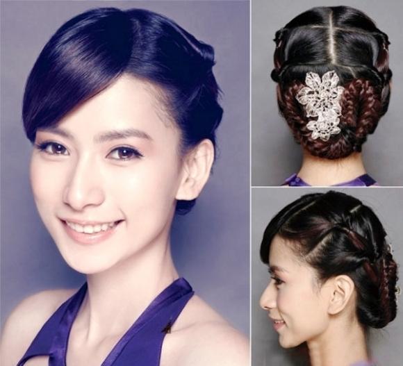 Kiểu tóc tết quý phái cho bạn gái