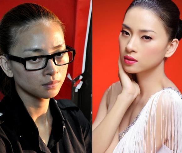 'Bóc trần' khuôn mặt đẹp mỹ miều của sao Việt